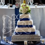 Cake Table, with Diamond Confetti & Crystal Cake Serving Set