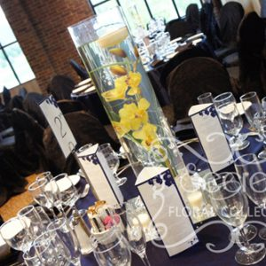 Guest Table Set-up with Tall Centrepiece
