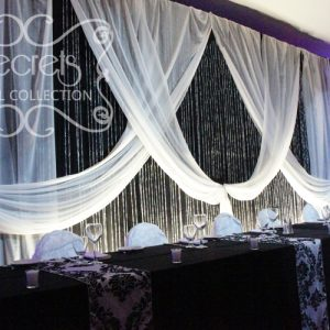 Crystal Rain Panel Backdrop, Highlighted with White Spotlights