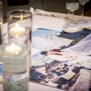 Lovely form of guest book. Photo by Andes Lo Photography - Toronto Wedding Decor Created by Secrets Floral Collection